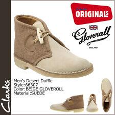 Clarks Original M ** DESERT DUFFLE BOOTS * CAMEL COMBI SUEDE *  UK 7.5 / true 7