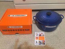 RARE LE CREUSET 7.25 QT Round Cast Iron Dutch Oven Cobalt Blue NEW In Box
