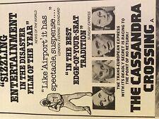 m4-8a ephemera 1970s film advert the cassandra crossing harris loren sheen