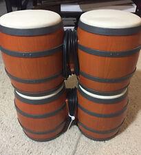 Nintendo GameCube Donkey Kong Konga Bongo Drum Set of 2 Tested Free Shipping