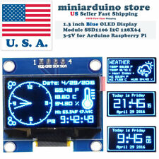 "1.3"" I2C IIC 128X64 OLED Display Module Arduino Blue Color SSD1106 US"