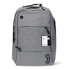 Juventus Zaino Multiuso Grigio Logo Nero 14 litri 3 Tasche Zip Collezione Travel
