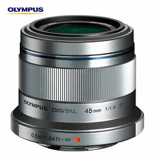 New! Olympus M.ZUIKO Digital ED 45mm F1.8 Micro PEN Lens Four Thirds Silver