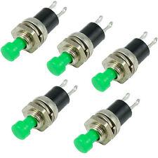 5 x grün Miniatur Momentan Druck machen Schalter Mini SPST