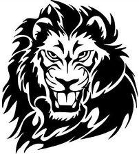 lion head tribal vinyl graphics decals car stickers peugeot tiger big cat fear