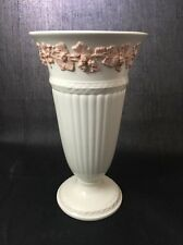"""Vintage Wedgwood Of Etruria & Barlaston Embossed Queensware Pink Vase 6 1/2"""""""
