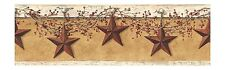 Simply Folk Art Stars and Berries Sure Strip Wallpaper Border HK4663BD
