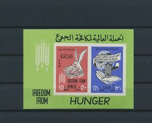 LN19071 Syria freedom from hunger imperf sheet MNH