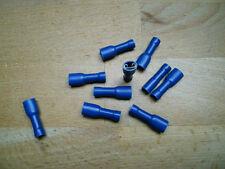 50 Flachsteckhülsen blau, 4,8 voll isoliert für Kfz+++