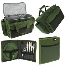 NGT Pesca Carpa Isolato Borsa Borsone Borsone Tackle + Set di posate picnic