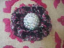 Handemade fabric flower pin and hair clip/Flower fabric brooch pin/hair clip