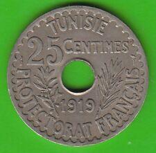 Tunesien 25 Centimes 1919 fast vz hübsch nswleipzig