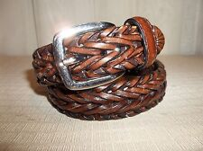 Laced Braided Brown Sythetic Leather Belt Boy's Size Small 22-24