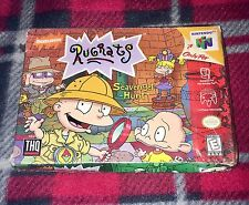 RUGRATS SCAVENGER HUNT 1999 NINTENDO 64 N64 Sealed Crushed Box OOP RARE HTF
