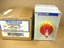 NEW  FERRAZ SHAWMUT ENCLOSED DISCONNECT EDFS253RS0  25A 600V TYPE 4X  NEMA 4X