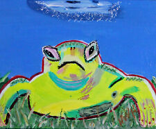 """Funky Toad"" 11 X 14 inches, acrylic on stretched canvas by Harry W. Hallman"