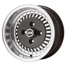 "6x12"" OS4 TURBO+Yokohama A539 tyres Classic (x4) Black Machined Lip"