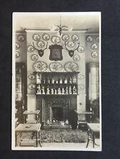 Vintage Postcard - Cumberland #197 - RP Fireplace In Lounge Keswick Hotel - 1929