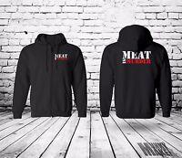 MEAT IS MURDER zip hoodie UNISEX animal rights, alf, protest, vegan veggie ALF