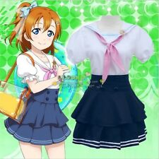 Honoka Kousaka Navy Sailor Dress Uniform Skirt Anime Love Live Cosplay Costume