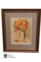 John Gromosiak Still Life Art Print Flowers Vase Botanical 20th Cent NY Artist