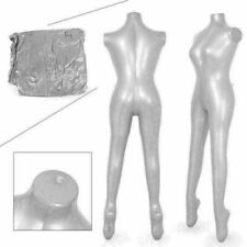Woman Whole Body Armless Inflatable Mannequin Fashion Dummy Torso Model Silver