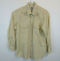 Vintage Miller Western Wear Embroidered Cowboy Pearl Snap Shirt Men's 17.5 34