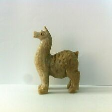 Llama Soapstone Stone Handcarved Figurine Collectable Handmade Art Peru
