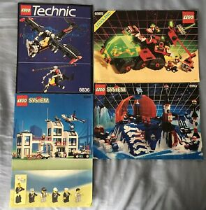 Lot 4 Lego Instruction Manual M-Tron Technic Ice Planet City 6989 6983 6398 8836