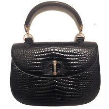 VINTAGE COBLENTZ ICONIC STYLE EMBOSSED ALLIGATOR LEATHER HANDBAG