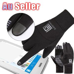 Mens Touch Screen Gloves Sports Phone Outdoor Winter Warm Windproof Waterproof