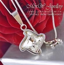 925 STERLING SILVER NECKLACE PENDANT CRYSTALS FROM SWAROVSKI® TWISTER CRYSTAL F