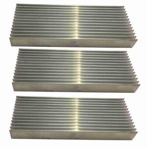 1X(3 Pcs Aluminium Power Amplifier Heatsink Heat Sink 100X40X11mm B5D3)