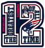 "New England Patriots ""Greatest of All Time"" #12 Tom Brady logo Type Magnet"