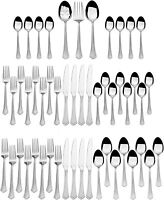 International Silverware Stainless Steel 51-Pc Capri Frost Finish, Service for 8