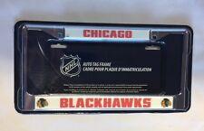 Chicago Blackhawks Chrome/Metal Auto Tag License Plate Frame New NHL