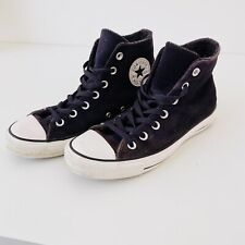Navy blue suede Hi-top All Star Converse trainers   Size: UK6