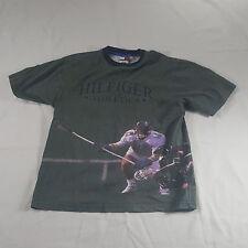 Tommy Hilfiger Athletics Lacrosse ALL OVER PRINT Graphic T Shirt KIDS MEDIUM VTG