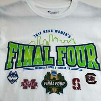 2017 NCAA Women Final Four Basketball Champion Adult T Shirt Small Short Sleeves