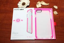 Original Tech21 Evo Check iPhone 6 Plus iPhone 6S Plus Case Cover Clear Pink