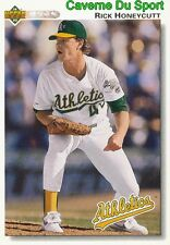 684 RICK HONEYCUTT OAKLAND ATHLETICS  BASEBALL CARD UPPER DECK 1992