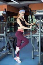 USPS Womens Sports Gym Yoga High Waist Running Pants Elastic Fitness Tights S714