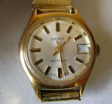 Everite Swiss Automatic Wristwatch with Date: Gold Plated: Working Order