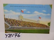 POSTED POSTCARD STAMP 1947 WESTERN KENTUCKY COLLEGE STADIUM BOWLING GREEN KY.
