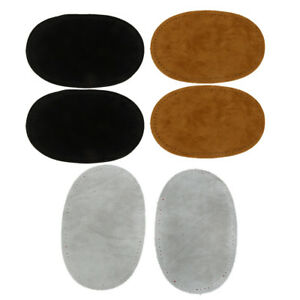 3 Pairs 3 Colors Sew On Suede Oval Elbow Knee Patches Sweater Repair Crafts