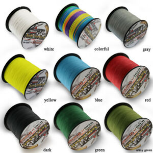 Ashconfish Braided Fishing Line 6lb-100lb 4 Strands PE Super Extreme 300M 328Yds