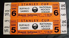 VINTAGE BUFFALO SABRES FULL TICKETS FROM 1970'S STANLEY CUP, MEMORIAL AUDITORIUM