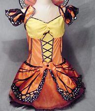 Adult Female Monarch Butterfly Sexy Costume w Wings Orange Black Medium 8-10