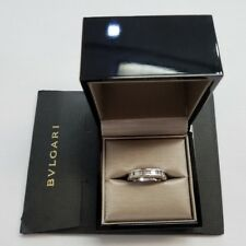 Bvlgari 18 Karat White Gold Band , Size 54 / 6.75 With Authenticity Certificate
