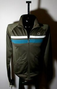 Men's FOSSIL Brand Jeans Brown Full Zip Jacket Size S